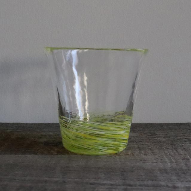 5色のグラス 菜の花 260cc / 丸モ高木陶器