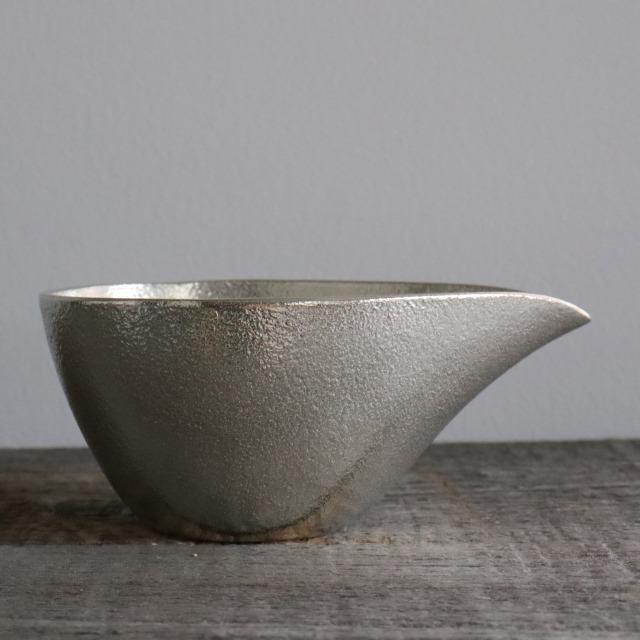 能作 錫(すず) 片口 横長 150cc / 丸モ高木陶器
