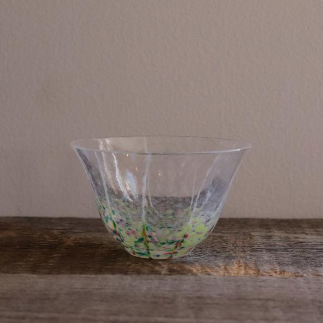 色和ガラス ぐい呑(TJ702)  小春 85cc/丸モ高木陶器