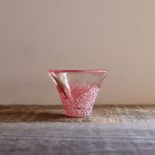 富士山冷酒杯 赤 35cc / 丸モ高木陶器