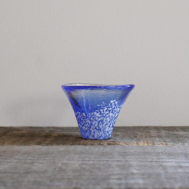 富士山冷酒杯 青 35cc/丸モ高木陶器