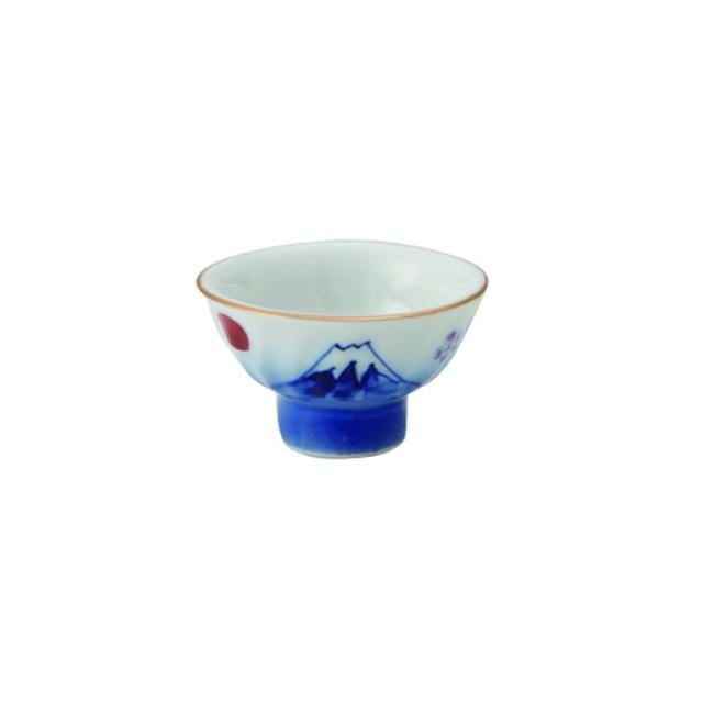 サウンド盃 桜富士山 40cc / 丸モ高木陶器