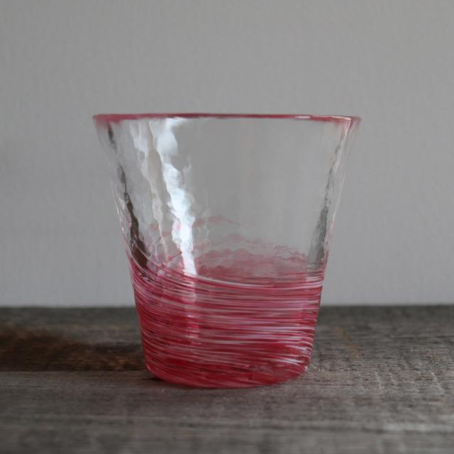 5色のグラス 桜 260cc / 丸モ高木陶器