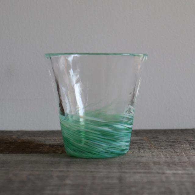 5色のグラス 翡翠 260cc / 丸モ高木陶器