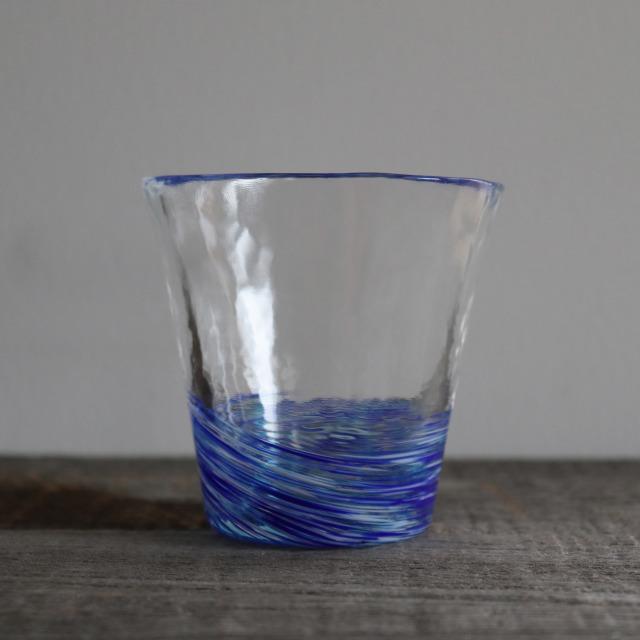 5色のグラス 紺青 260cc/丸モ高木陶器