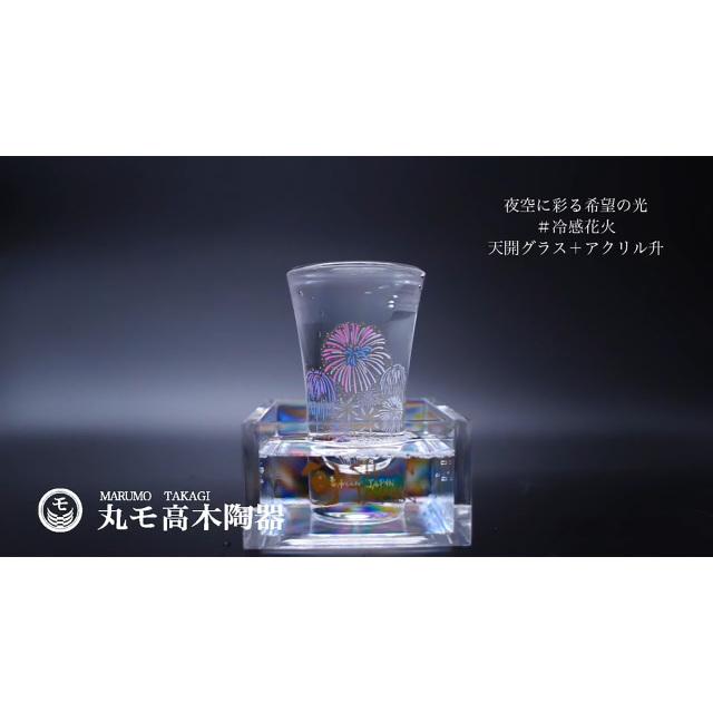 冷感花火 こぼし酒ペアセット/丸モ高木陶器