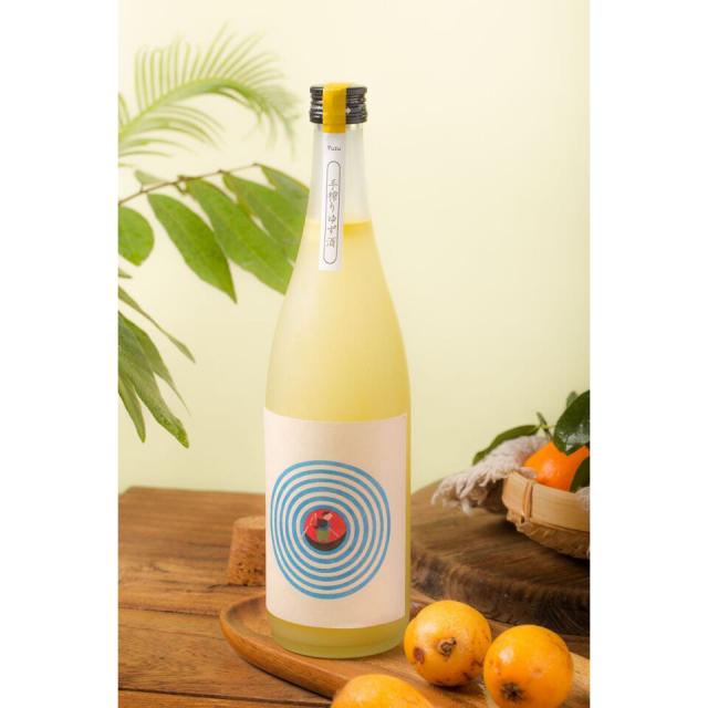 【シリーズ全5種類】むかしはなし 手搾りゆず酒  720ml / 室町酒造