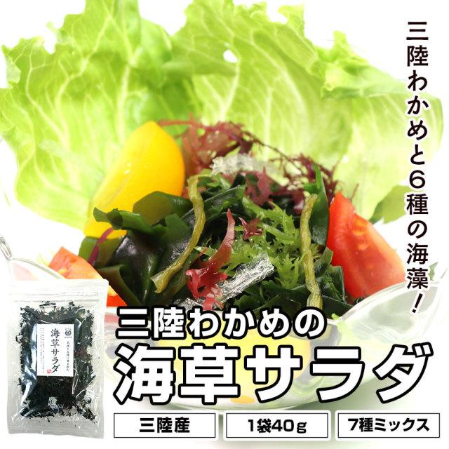 田清の海草サラダ 40g 三陸わかめと6種の海藻 【ネコポス発送】