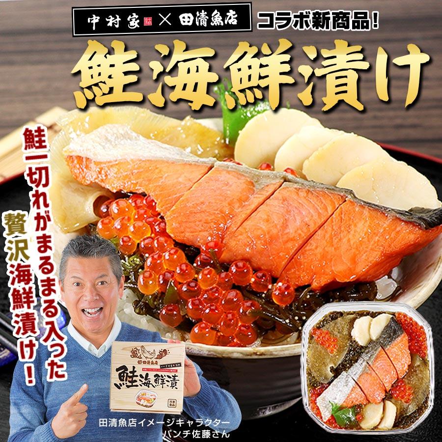 【中村家監修】 田清の鮭海鮮漬 鮭の切り身一本入った海鮮漬け 【化粧箱】