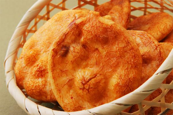 『堅焼きせんべい』手焼き醤油のお煎餅