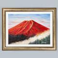 右肩上がり金雲赤富士