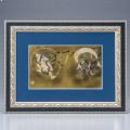 和彫り彫金アート(縁起物の龍虎・風神雷神を伝統の和彫り技術で描く!)