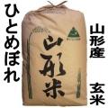 《送料無料》 山形県産米 ひとめぼれ 玄米 30kg 特別栽培米