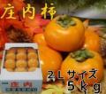 《贈答用に》 山形県鶴岡産庄内柿 秀品 2L 5kg (24玉入)《好評予約受付中!!》