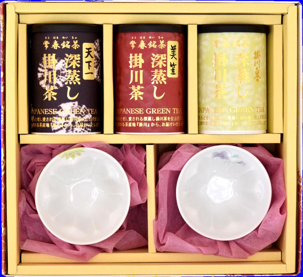 お茶と華型湯呑みの華咲きセット