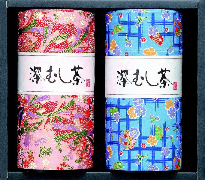 深蒸し掛川茶の掛川の誉200g2缶(和紙缶)セット