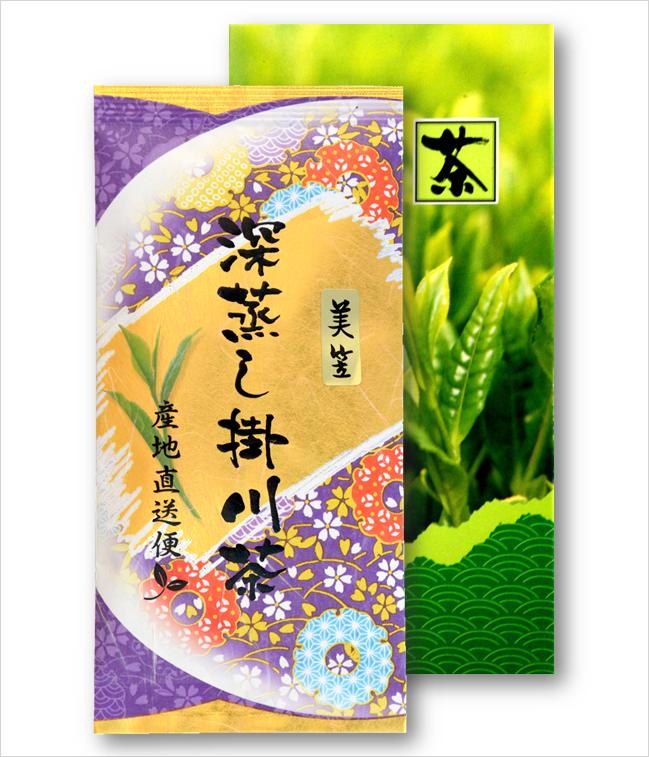 深蒸し掛川茶の美笠100g1袋箱入セット