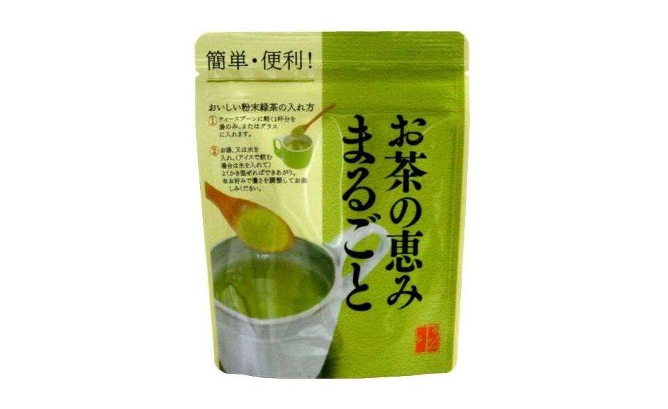 粉末緑茶のお茶の恵みまるごと40g袋入