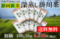 新茶の深蒸し掛川茶 ご家庭用に最適 初摘(はつづみ)100g10袋セット