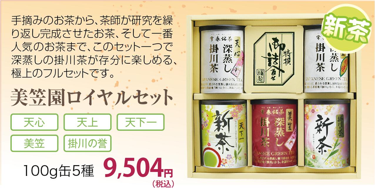 新茶の深蒸し掛川茶 美笠園ロイヤルセット