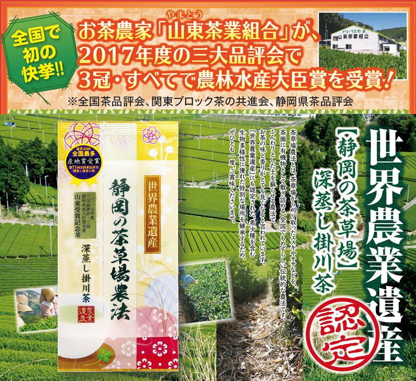 山東受賞記念茶80g袋入