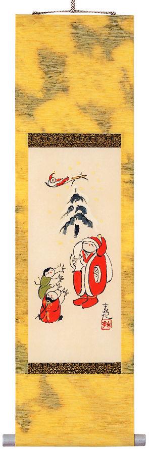 ミニ掛け軸(立型)今井玄花 クリスマス の掛軸(掛け軸)