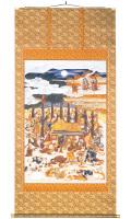 釈迦涅槃之図(しゃかねはんのず)(直筆) 掛軸(掛け軸)
