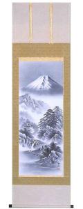 富士山水 夏目拓次 掛軸(掛け軸)