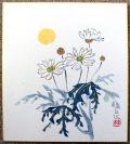 番外品 色紙 今井玄花先生の色紙「マーガレット」 掛軸倶楽部