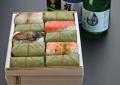 【送料無料!!】秋柿の葉ずし四色20個入と奈良の地酒セット☆お好きなお酒をお選び下さい♪