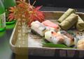 【送料無料!!】柿の葉ずし秋の四色24個入と奈良の地酒セット☆お好きなお酒をお選び下さい♪
