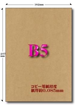 B5クラフト紙 65kg