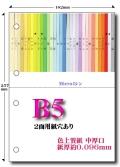 B5 色上質 Microミシン2面4穴用紙【中厚口】