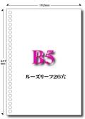 B5 ルーズリーフ穴 26穴