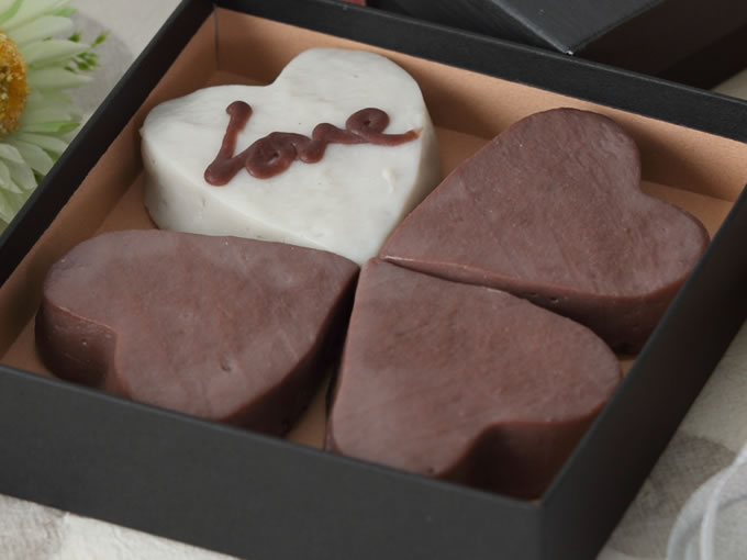 ハート型かまぼこバレンタインギフトセット(ココア)