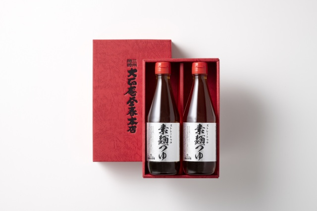 釜春特製つゆ:生ストレートつゆ 素麺つゆ:2本入り (常温保存)