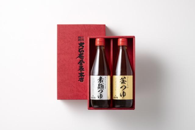 釜春特製つゆ:生ストレートつゆ 素麺つゆと釜つゆ:各1本入り (常温保存)