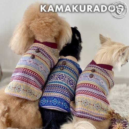木ボタン付きセーター