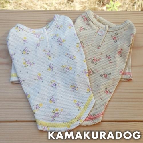 ハニカム小花柄シャツ