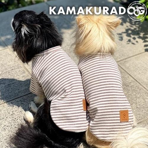 ブラウンボーダーシャツ