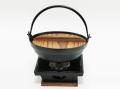【懐石】匠の技 [いろり鍋] +五徳いろり四角コンロセット(固形燃料 使用タイプ)