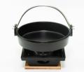 すき焼き鍋+五徳四角コンロ
