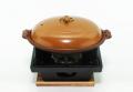 陶板鍋と四角コンロ