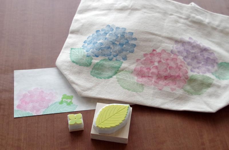 紫陽花ハンコとグッズ