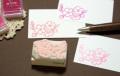 ソメイヨシノ桜の房の消しゴムはんこ