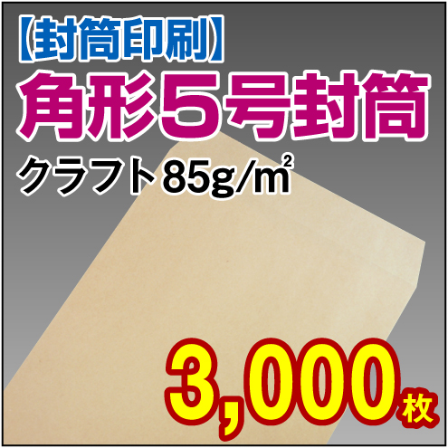 封筒印刷 | 角形5号封筒 クラフト〈85〉 3,000枚