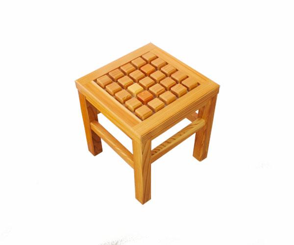 木製 ブロック単椅子