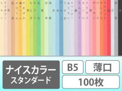 ナイスカラー スタンダード B5薄口100枚