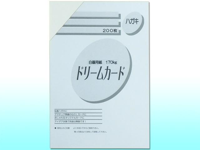 ドリームカード 白画用紙/はがきサイズ/170kg 200枚