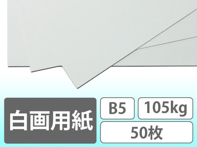 白画用紙 B5 105kg 50枚